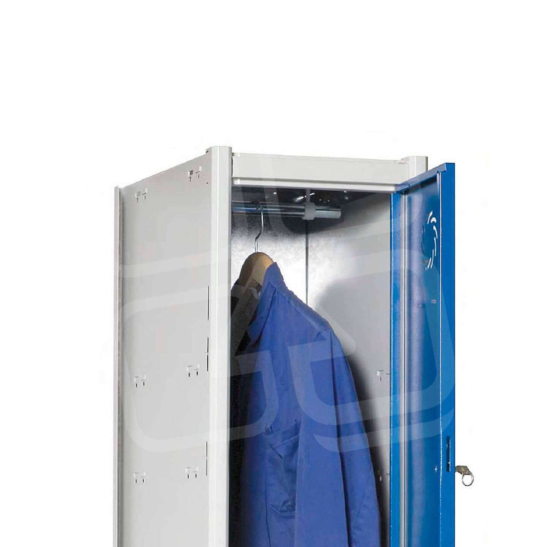 Taquilla modular Basic 2 puertas; detalle del interior